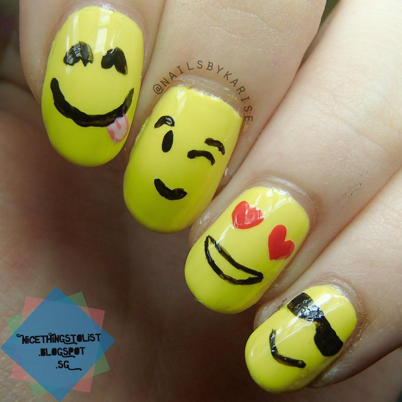 Emoji Naiils nail art by Karise Tan - Emoji Naiils Nail Art By Karise Tan - Nailpolis: Museum Of Nail Art