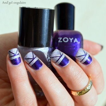 Zoya et Catrice stripping tapé nail art by And'gel ongulaire