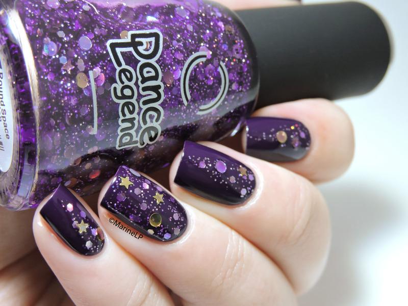 Intergalactic nail art by Marine Loves Polish