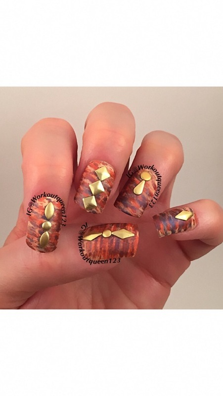 Embellishment nail art by Workoutqueen123