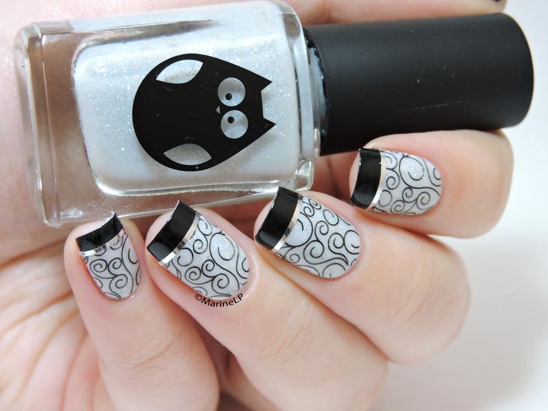 Rock chic nail art by Marine Loves Polish