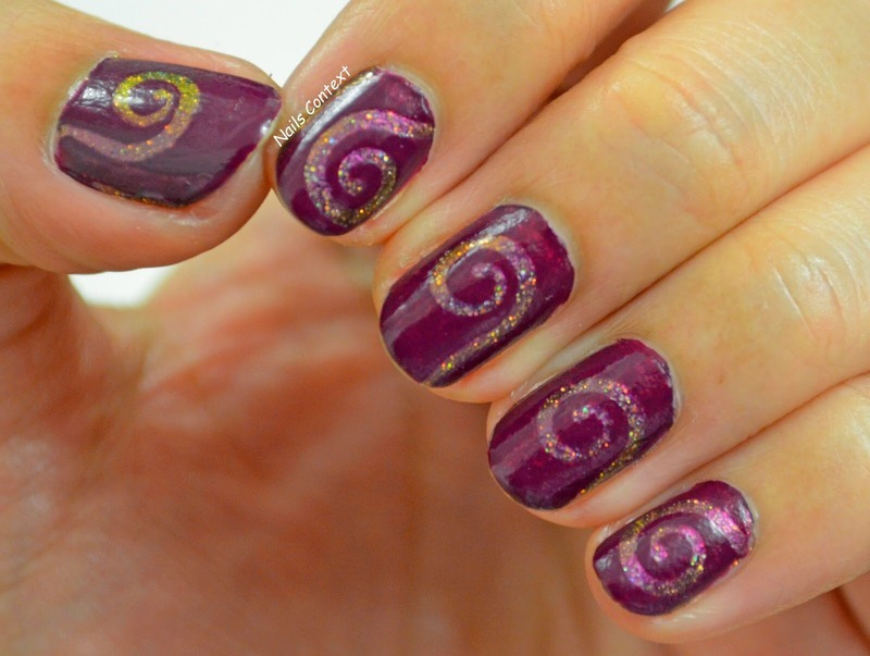 Swirls nail art by NailsContext