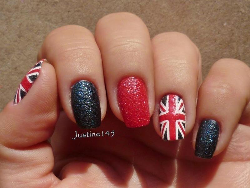 union jack nail art by Justine145