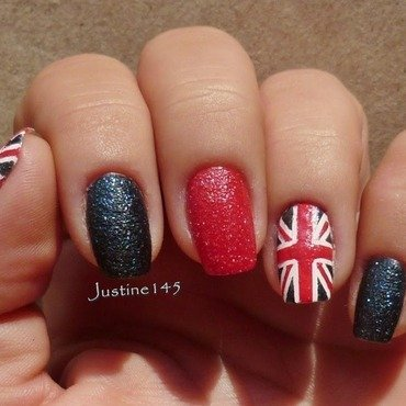 union jack nail art by Justine145