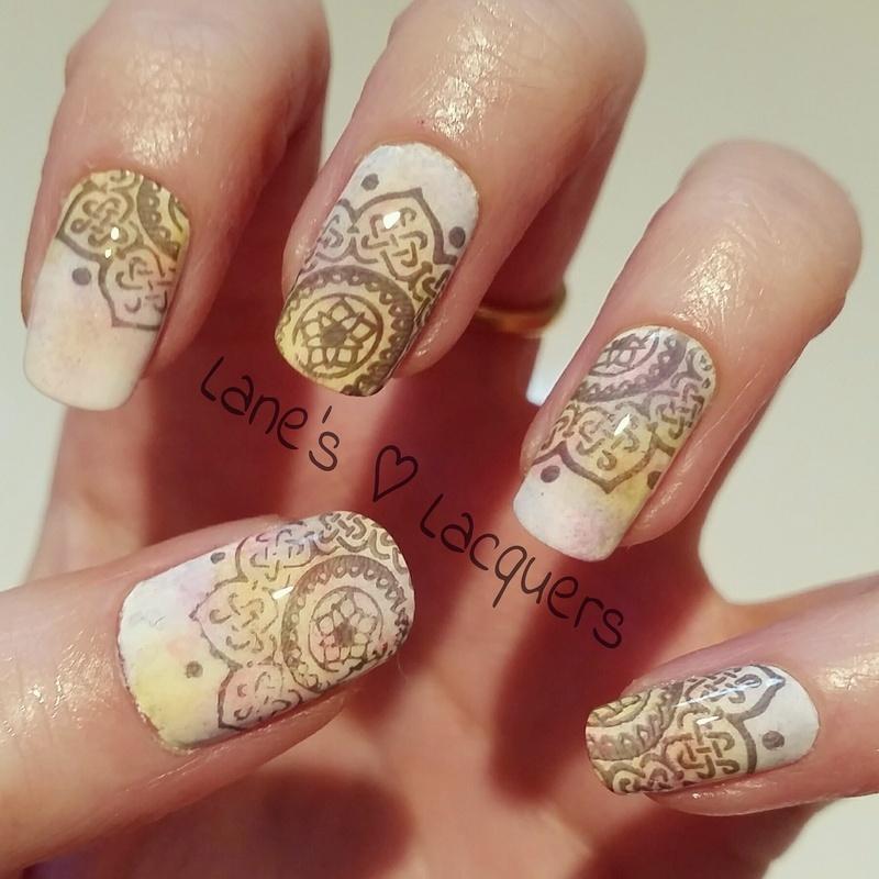Vintage Pastel Alcohol Inks Manicure nail art by Rebecca - Nailpolis ...