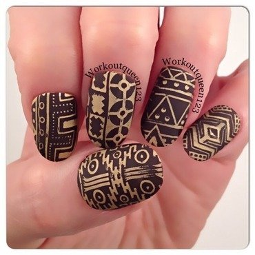 Geometric  nail art by Workoutqueen123
