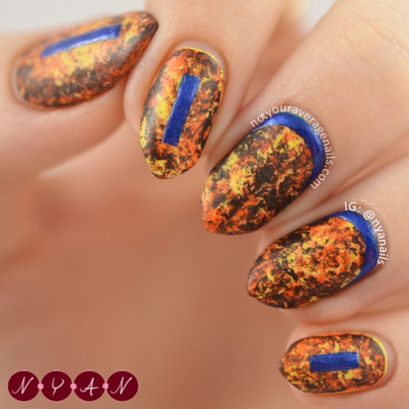 NAFW2015 Day Five: Style Icon nail art by Becca (nyanails)