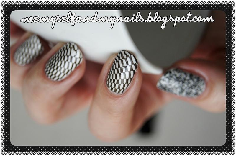 Black&White nail art by ELIZA OK-W