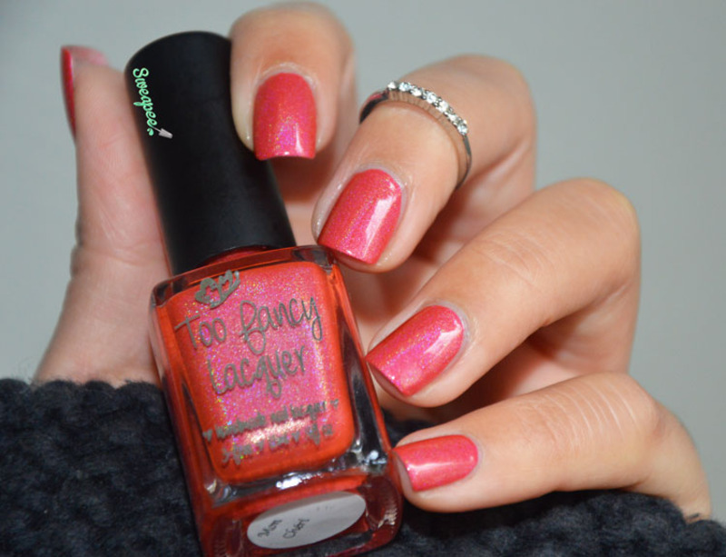 Too Fancy Lacquer Mon Chéri Swatch by Sweapee