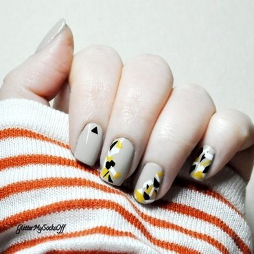Confetti party nail art by GlitterMySocksOff