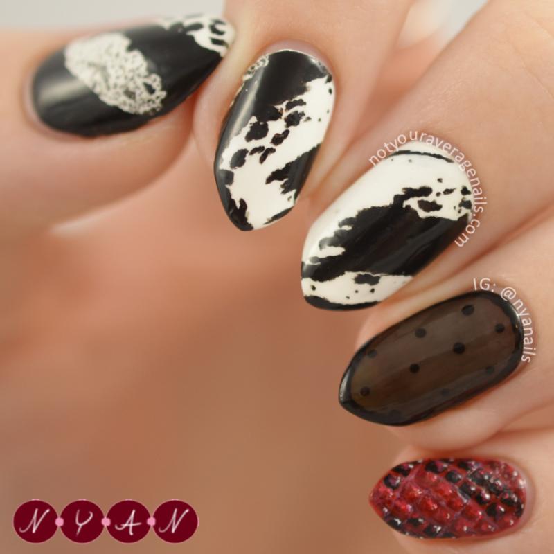 NAFW2015 Day Six: Fall 2015 Dress nail art by Becca (nyanails)