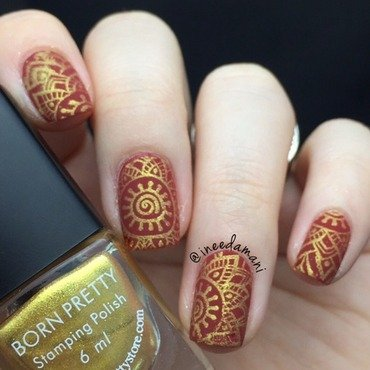 Sari nail art by Carmen Ineedamani