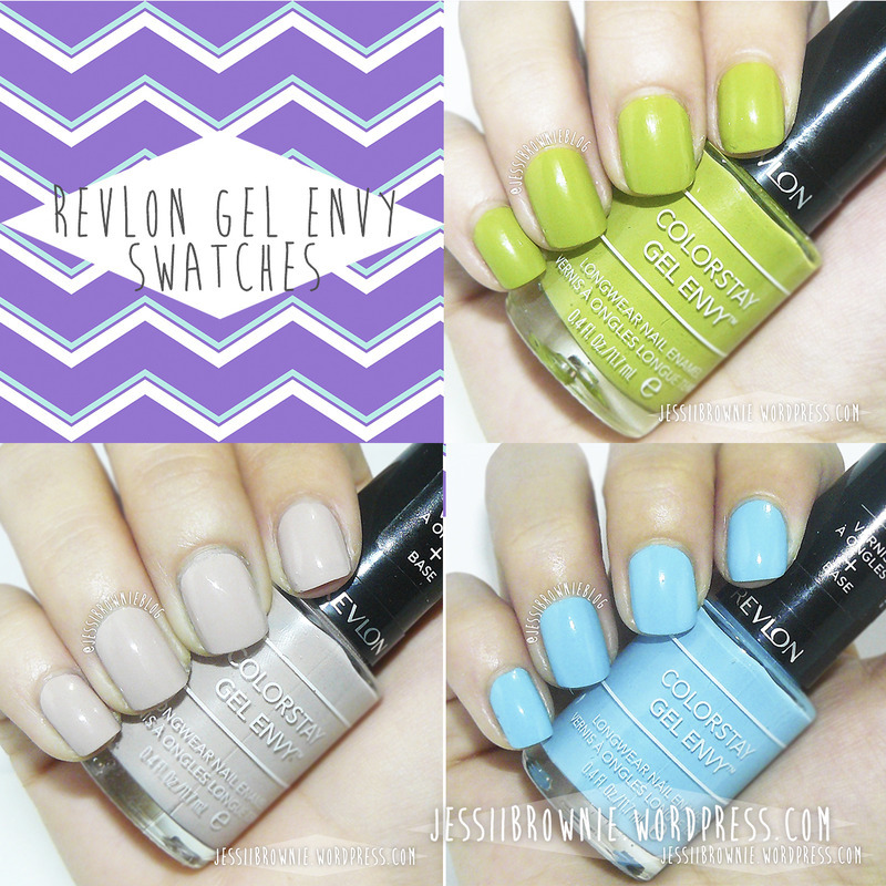 Revlon Gel Envy In the money, Revlon Gel Envy Full House, and Revlon Gel Envy Checkmate Swatch by Jessi Brownie (Jessi)