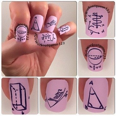 Any one remember this class PI and not the kind you eat nail art by Workoutqueen123