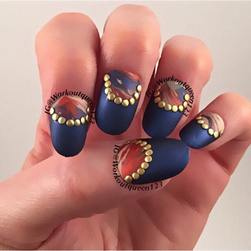 Half moon nail art by Workoutqueen123