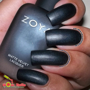 Zoya Dovima/Matte Swatch by Paula of Wow Nails
