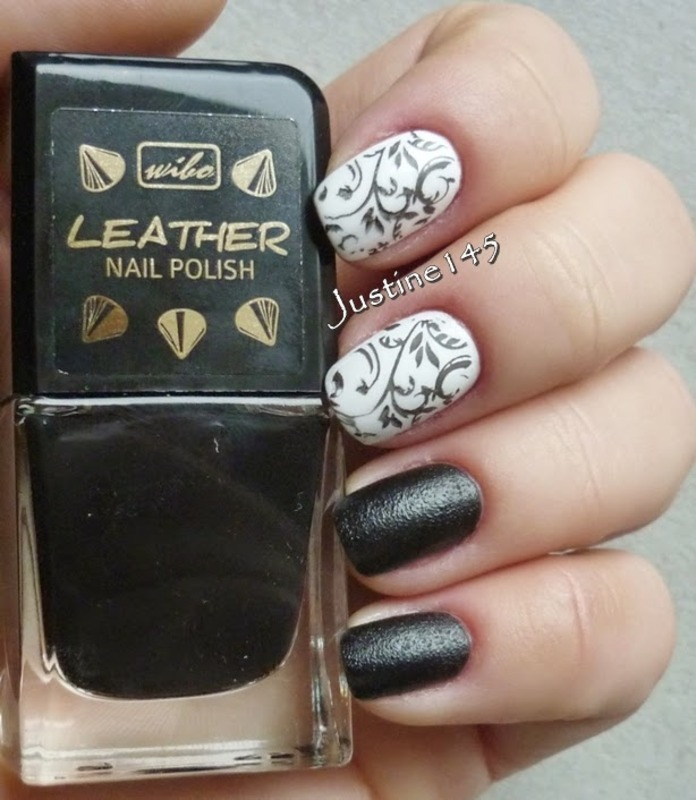 black and white nail art by Justine145