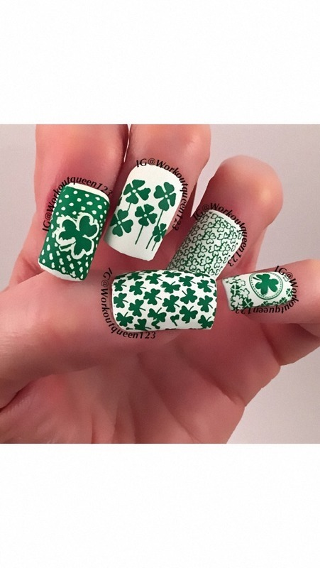 St. Patrick's Day Luck nail art by Workoutqueen123