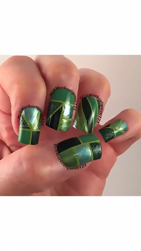 St. Patrick's Day  nail art by Workoutqueen123
