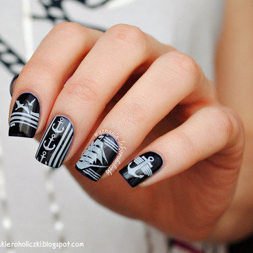 Ahoy! nail art by Olaa