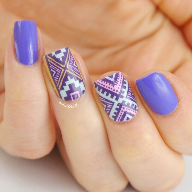 Tribal Nails Close nail art by Ann-Kristin