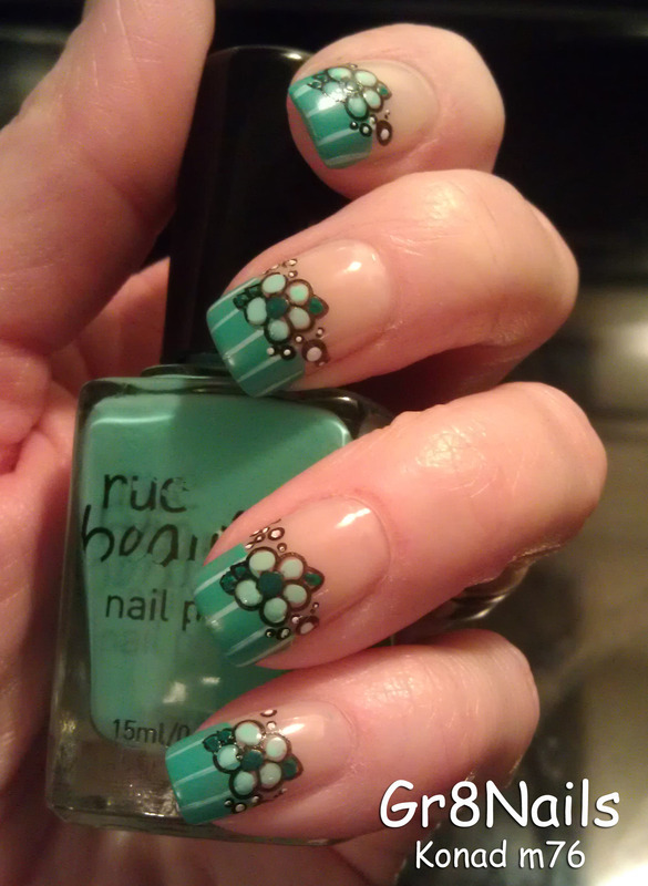St. Pat's French Manicure nail art by Gr8Nails