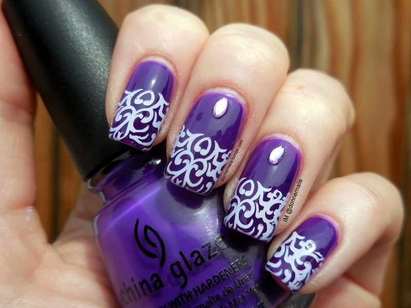 Purple Passion nail art by Donner