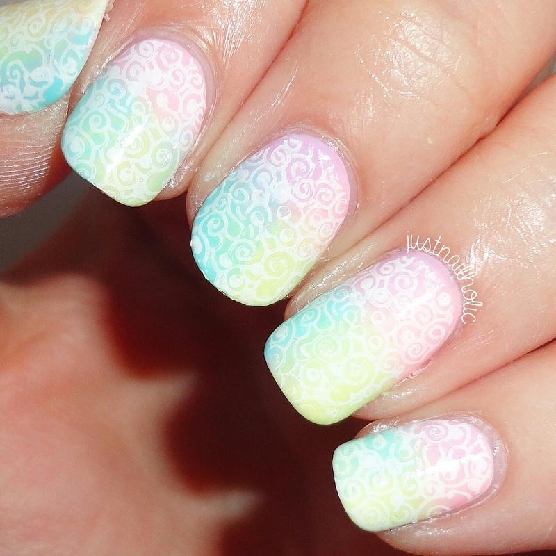 Stamping nail art by Melany Antelo