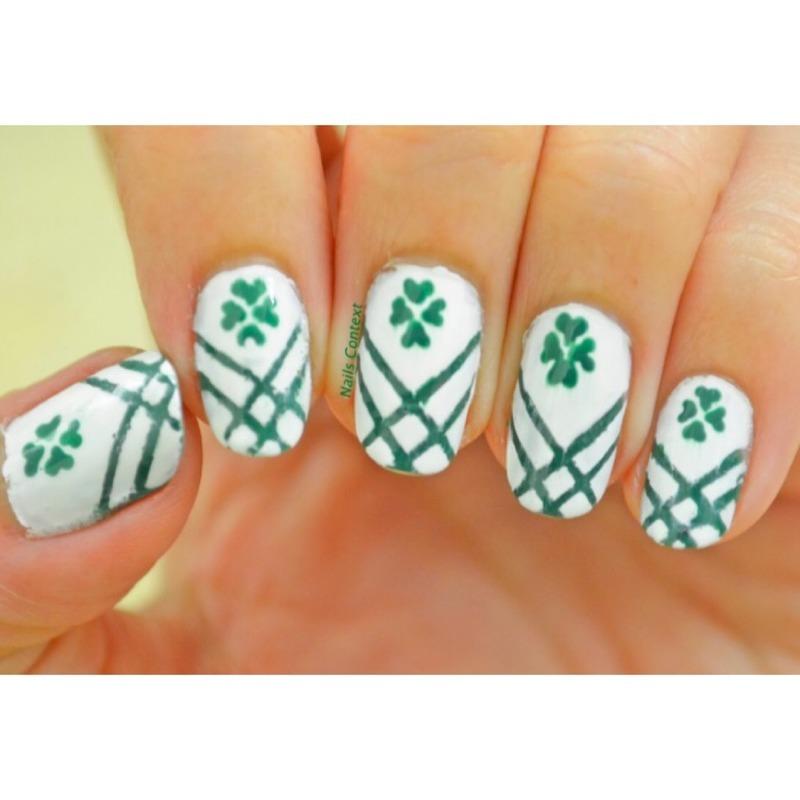 Shamrock Nails nail art by NailsContext