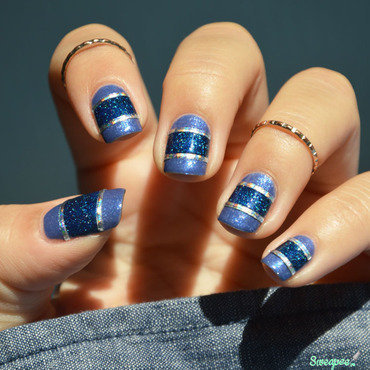 Denim in the cosmos nail art by Sweapee