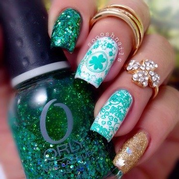 St. Patrick's Nails nail art by Debbie