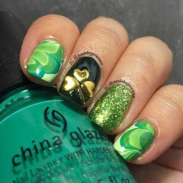St. Patrick's Nails nail art by Jonna Dee