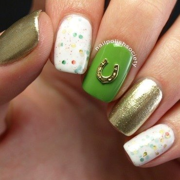 Oh What Luck! St. Patty's Day Mani nail art by Emiline Harris