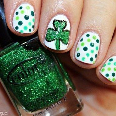 Saint Patrick's Day nail art by Amethyst