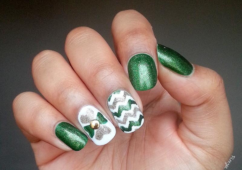 Saint Patrick's Day!  nail art by Pinezoe