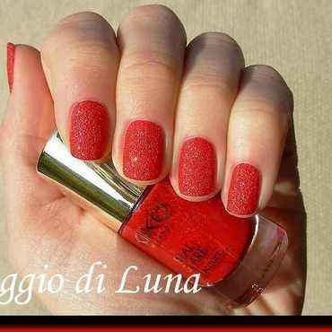 Kiko Real Glare Nail Lacquer n° 02 Progressive Red Swatch by Tanja