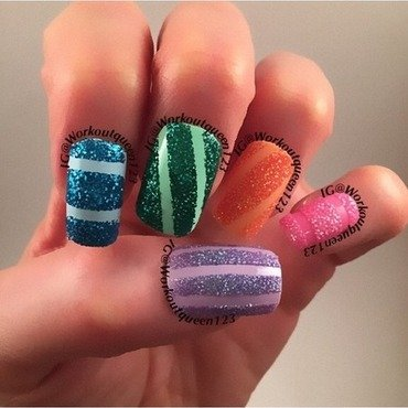 Glitter  nail art by Workoutqueen123