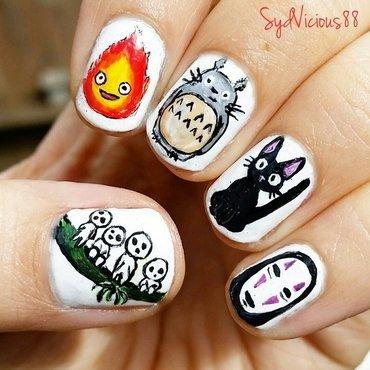 Studio Ghibli nail art by SydVicious