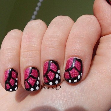Butterfly wings :) nail art by JoanneD
