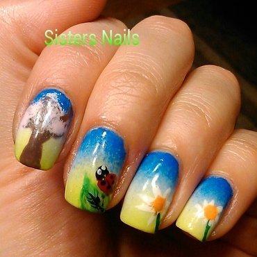Łąka nail art by Marzena