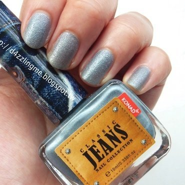 Konad Smoke Blue Jean Swatch by D4zzling Me