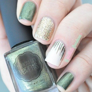 army waterfall nail art by nathalie lapaillettefrondeuse