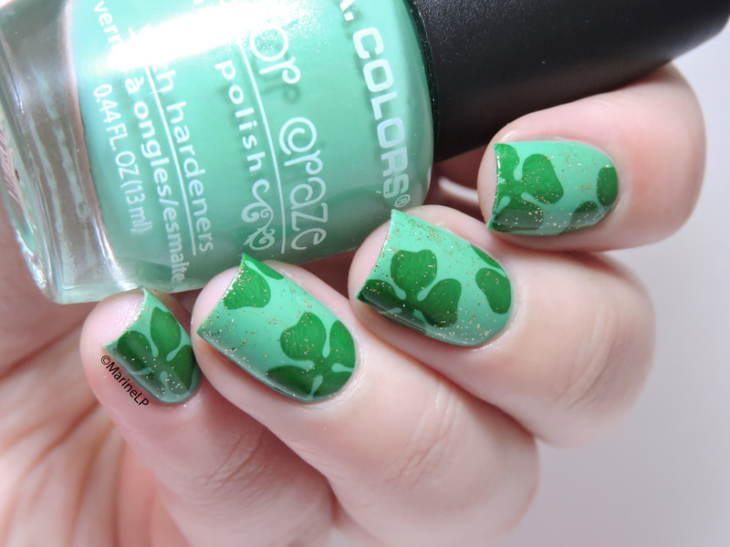 St. Patrick's Day nails nail art by Marine Loves Polish