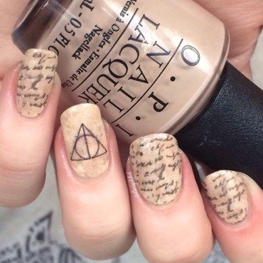 Deathly Hallows 2.0 nail art by allwaspolished