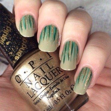 St Patrick's Waterfall nail art by allwaspolished