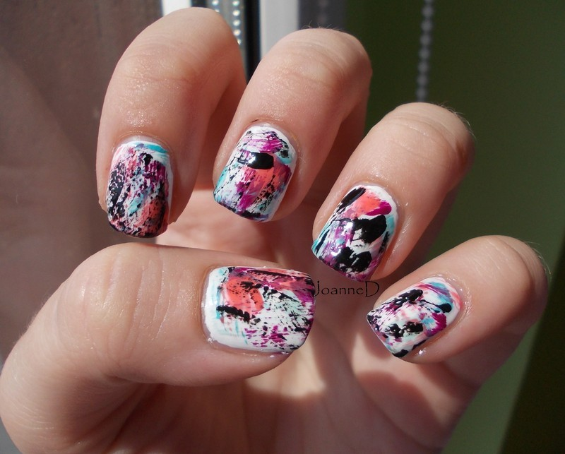 Distresed nails nail art by JoanneD