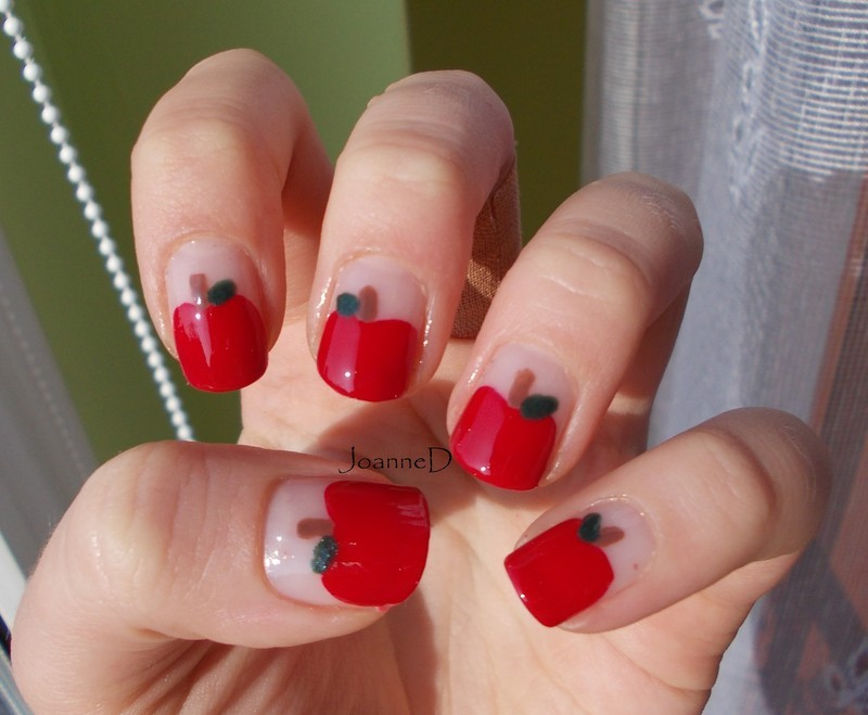Apples nail art by JoanneD