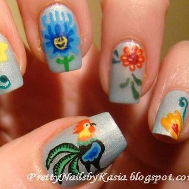 Łowickie :) nail art by Pretty Nails by Kasia