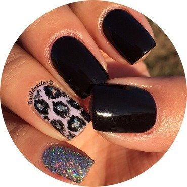 Ikat Leopard  nail art by Dvisha P
