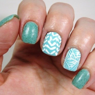 Patterns nail art by Lindsay